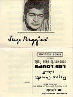 SERGE REGGIANI / CANETTI - LES LOUPS SONT ENTRES DANS PARIS  - 1968 - BON ETAT - - Music & Instruments