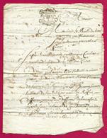 Manuscrit Du XVIIe Siècle - Cantal - Saint-Flour Et Roffiac - Protagonistes Dénommés Guillaume Combes Et Autres - Manuskripte