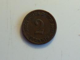 Allemagne 2 Pfennig 1913 A - [ 2] 1871-1918 : Imperio Alemán