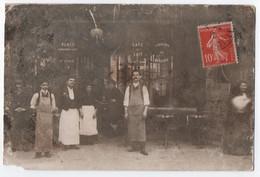 CARTE PHOTO : CAFE - LIQUEURS DE MARQUES - PUNCH CONSOMMATIONS - ECRITE CACHET PARIS BASTILLE EN 1916 -z 2 SCANS Z- - Ansichtskarten