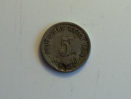 Allemagne 5 Pfennig 1898 - [ 2] 1871-1918 : Imperio Alemán