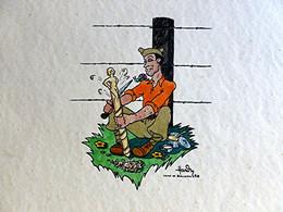 HARDY 40 - CAMP DE BAR LE DUC  - LITHOGRAPHIE - Camp EXELMANS Et Savonnerie De Bar Le Duc Août 1940 - Lithografieën