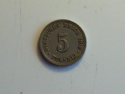 Allemagne 5 Pfennig 1912 D - [ 2] 1871-1918 : Imperio Alemán