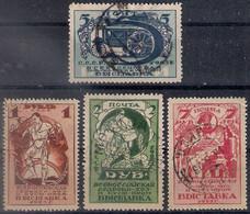 Russia 1923, Michel Nr 224-27 A/B, Used - Oblitérés