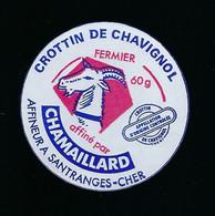 étiquette Fromage De Chèvre 60g Crottin De  Chavignol Fermier  Chamaillard  Santranges/cher 18 - Käse