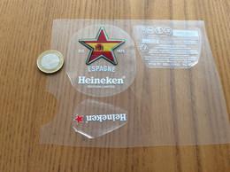 """Etiquette De Bière + Contre-étiquette, Collerette """"ESPAGNE - Heineken» - Bier"""