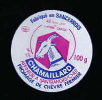 étiquette Fromage De Chèvre Fermier 45%mg   100g  Chamaillard  Santranges S Cher 18 - Käse