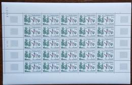 Andorre - YT N°311 - Feuille De 25 Timbres - Protection De La Nature / Flore / Bouleau - 1983 - Neuf - Nuovi