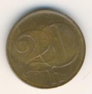 CZECHOSLOVAKIA 1992: 20 Haleru, KM 143 - Czechoslovakia