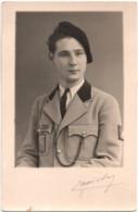 Militaire C.1930 Avec Béret - MISTRAL FN F N Carte Photo Sans Dos Imprimé - Uniformes