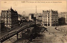 CPA Paris 15e - Le Carrefour De La Rue Lecourbe (76241) - Arrondissement: 15