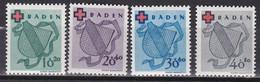 Men_ Franz. Zone Baden - Mi.Nr. 42 - 45 A - Postfrisch MNH - French Zone