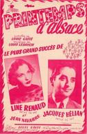 LINE RENAUD / JACQUES HELIAN - PRINTEMPS D'ALSACE - 1953 - ETAT COMME NEUF - - Music & Instruments