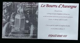 """étiquette Fromage  Le Bourru D'Auvergne  Les Comptoirs De Xavier Aurillac Cantal FR63426001CE """" Tracteur Ancien"""" - Käse"""