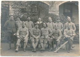 PONTIVY - Carte Photo - Groupe De Blessés, Hôpital Militaire, 1918, WW1 - Carte En L'état - Pontivy