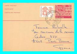 A745 / 189 Entier Postal HELVETIA 50 + Timbre - Ganzsachen
