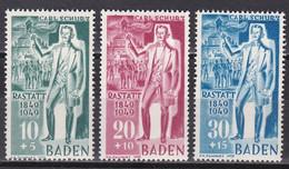Men_ Franz. Zone Baden - Mi.Nr. 50 - 52 - Postfrisch MNH - French Zone
