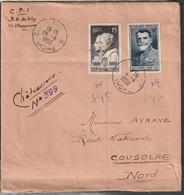 FRANCE      N° Y&T  845 Et 847  Sur Lettre - 1921-1960: Moderne