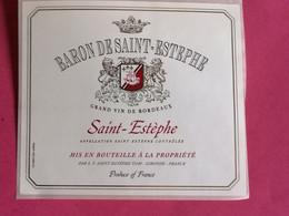 SAINT-ESTEPHE ETIQUETTE BARON DE SAINT-ESTEPHE      27/09/20/ - Bordeaux