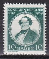 Men_ Franz. Zone Baden - Mi.Nr. 53 - Postfrisch MNH - French Zone