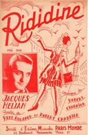 JACQUES HELIAN - RIDIDINE - 1947 - TRES BON ETAT - - Music & Instruments