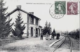 Bailleau Sous Gallardon Intérieur Gare 1910 état Superbe - Altri Comuni