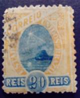 Bresil Brasil Brazil 1894 Pain De Sucre Sugarloaf Mountain Pao De Acucar Yvert 80 O Used - Gebraucht