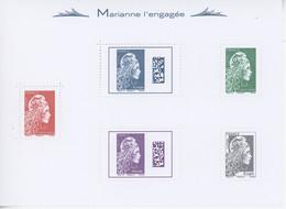 Marianne L'engagée Marianne D'YZ Bloc N° 141 Y.T. Neuf ** 2018 - Ongebruikt