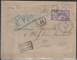 FRANCE    Merson     N° Y&T  144  Sur Lettre - 1877-1920: Periodo Semi Moderno