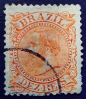 Bresil Brasil Brazil 1882 Pedro II Yvert 52 O Used - Gebraucht