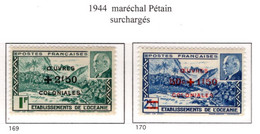 Ex Colonie Française  *  Océanie *  Poste    Série Complète  169/170  N** - Neufs