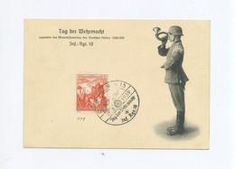 1939 3. Reich Gedenkblatt  Tag Der Wehrmacht Inf. Rgt.10  Dresden Mit Mi 676, 677, 679, 683 SST - Deutschland