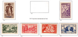 Ex Colonie Française  *  Océanie *  Poste    Série Complète  121/126  N** - Neufs
