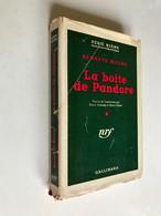 SÉRIE BLÊME - N° 14  LA BOÎTE DE PANDORE  Kenneth MILLAR  GALLIMARD - E.O. 1950 - Série Blême