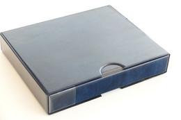 Israel Album - Importa Album + Case - Blue - Dim : 33 X 27 X 6 Cm. - Classificatori