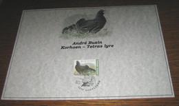 1 Kaart A. Buzin Korhoen / Tetras Lyre - 1985-.. Vögel (Buzin)