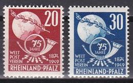 Men_ Franz. Zone Rheinland - Pfalz - Mi.Nr. 51 - 52 - Postfrisch MNH - French Zone