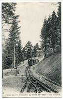CPA 1918 * Chemin De Fer à Crémaillère Du MONT REVARD Une Tranchée * Train - Cachet Censor A.E.F. Aigle + U.S. Military - Aix Les Bains