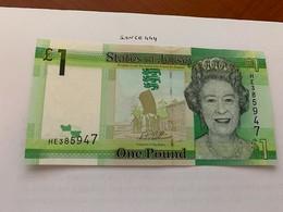 Jersey 1 Pound Uncirc. Banknote 2018 #2 - Jersey