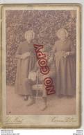 Al Più Veloce VECCHIA FOTO ORIGINALE Su Cartoncino - Fine '800  Foto D Bert Torre Pellice (To) - Costumi D'epoca - Oud (voor 1900)