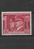 627 Allemagne- III REICH- 1941 Hitler Et Mussolini  YT 687 Neuf * - Unused Stamps