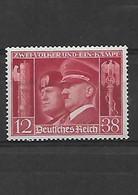 627 Allemagne- III REICH- 1941 Hitler Et Mussolini  YT 687 Neuf * - Ungebraucht
