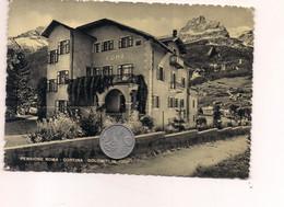 M9681 B VENETO Cortina D'ampezzo BELLUNO NON Viaggiata PENSIONE ROMA - Altre Città
