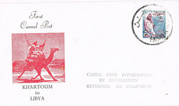 37853. Carta EL FASHER (Darfur) Sudan 1980. CAMEL Post - Sudan (1954-...)