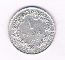 1 FRANK 1912 FR L BELGIE /7680/ - 1909-1934: Albert I