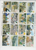 HONDURAS  - 1998 - HURRICANE MITCH FOLDED SHEETS OF 16 X 2  MINT NEVER HINGED - Honduras