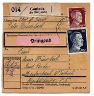 Allemagne  //  Colis Postal  //   De Goniadz ( Bz Bialystok ) - Deutschland
