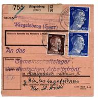 Allemagne  //  Colis Postal  //   De Riegelsberg // 12-3-43 - Deutschland