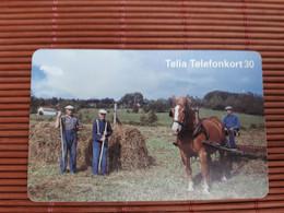 Phonecard Horse Used - Schweden