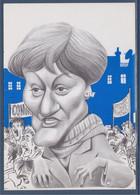 La Grande Manif Nicole Notat (CFDT), Caricature Et Dédicace Du Dessinateur Bernard Veyri N°130 - Women